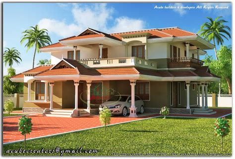 beautiful kerala style  storey house  sq ft plan