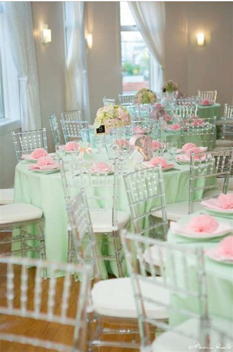Pink And Mint Green Baby Shower by Best 25 Green Baby Showers Ideas On Pinterest Baby