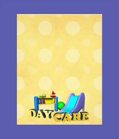 daycare flyer templates  ms word psd ai