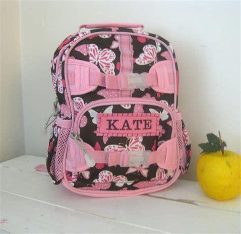 toddler girls backpack  monogram pottery barn mini size