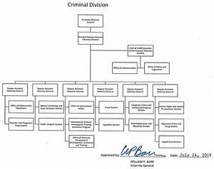 Organizational Chart Criminal Department Of Justice