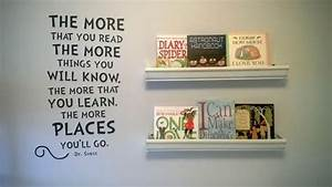 diy gutter book shelves for super cheap all parts found With kitchen cabinets lowes with dr seuss wall art quotes