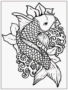 Koi Fish Coloring Pages - Coloring Home