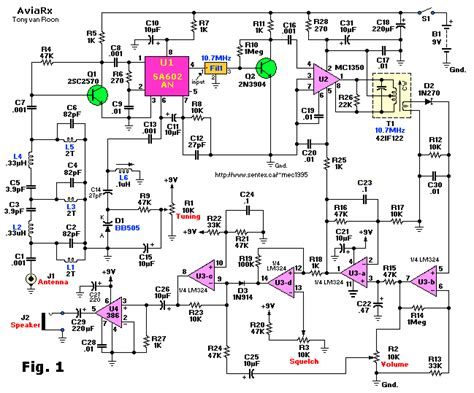 Aviation Band Receiver Schematic Diagram Simple