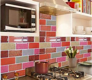 3d gel 2016 nuevo mosaico azulejo de la pared del vinilo With kitchen colors with white cabinets with papier adhesif deco