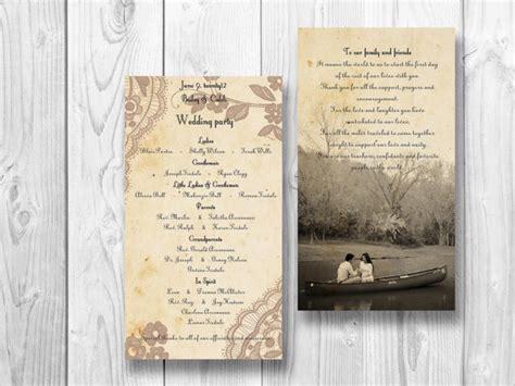 shabby chic wedding programs items similar to elegant lace wedding program romantic shabby chic wedding on etsy