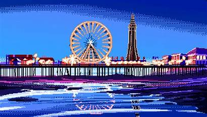 Pixel Blackpool Pier Bit Central Retro Means