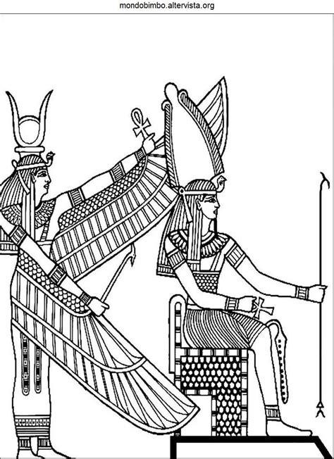 divinita  faraoni egiziani da colorare mondo bimbo