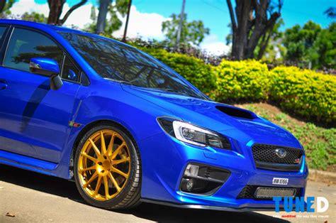blue subaru gold rims taste what s to come a look into modding the 2014 subaru