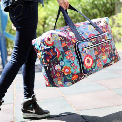 Large Foldable Travel Duffle Bag For Women Girls Cute ...