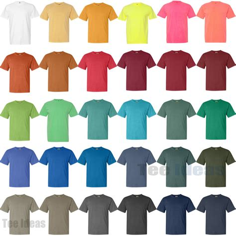 comfort color colors comfort colors pigment dyed sleeve 100 cotton t