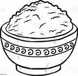 Rice Bowl Clipart Vector Drawing Clip Dinner Illustration Cliparts Carbohydrate Illustrations Getdrawings Drink Circle Istockphoto sketch template