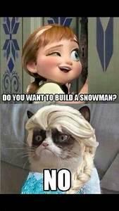 Grumpy cat & frozen. Disney | funny | Pinterest | Grumpy ...