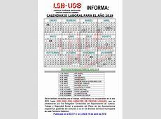 Calendario Laboral 2019 LSBUSO