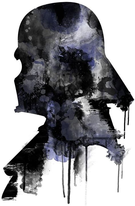 Wandbilder Wars by Wars Minimalist Watercolor Digital Painting Darth