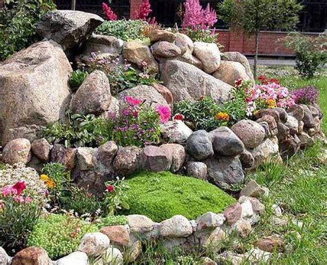 Backyard Landscaping Ideas With Rocks by Rock Garden Design On Bamboo Garden Fences
