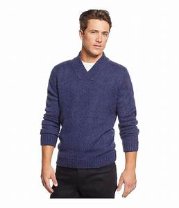 Tricots St Raphael Mens Shawl Collar Pullover Sweater