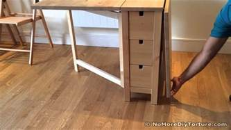 folding table ikea norden dining table youtube