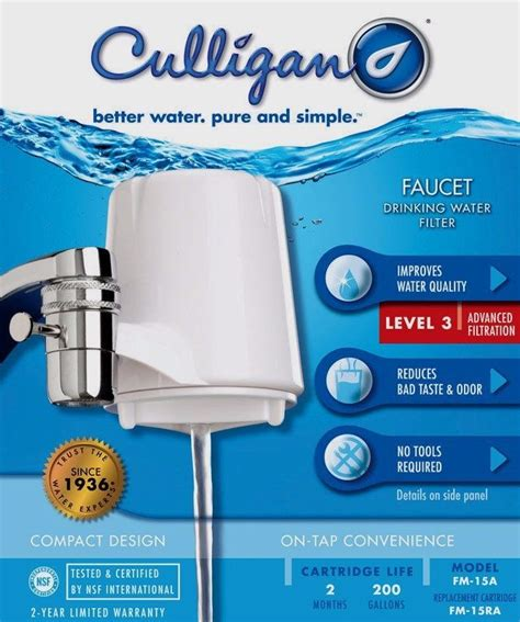 Culligan Faucet Mounted Water Filter by New Culligan Fm 15a On Tap Faucet Mount Advanced
