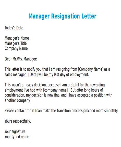 resignation letter format
