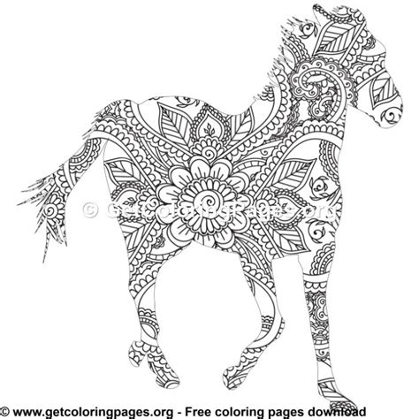easy  zentangle horse pattern coloring pages getcoloringpagesorg