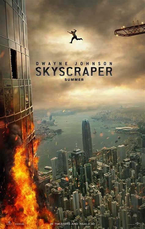 dwayne johnson soars  skyscraper  poster