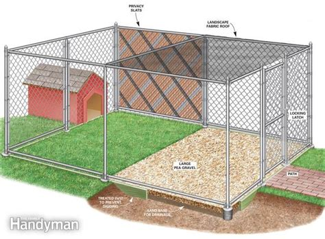 how to build a chain link kennel for your dog the family