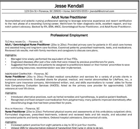write  nursing resume    job market