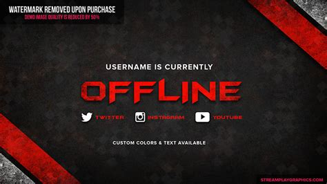 twitch offline banner template twitch profile banner templates premade offline image