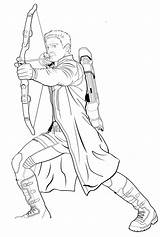 Hawkeye Coloring Pages Ages Printable Supercoloring Via sketch template