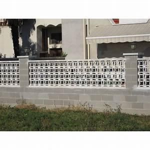 Claustra Beton Blanc : claustra florian en b ton blanc x x p 5 5 cm leroy merlin ~ Melissatoandfro.com Idées de Décoration