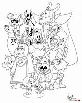 Undertale Coloring Flowey Canvas Designs Waffle Credit Larger sketch template