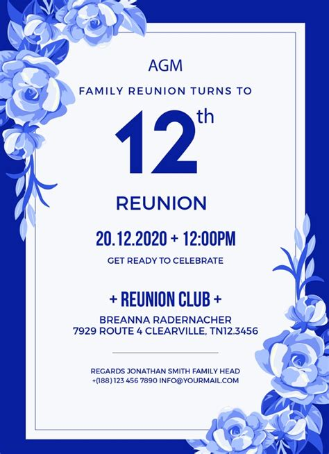 reunion invitation templates psd ai vector eps