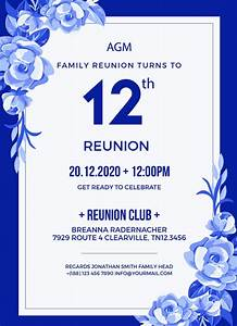 Where Can I Get Free Microsoft Word 10 Reunion Invitation Templates Psd Ai Vector Eps