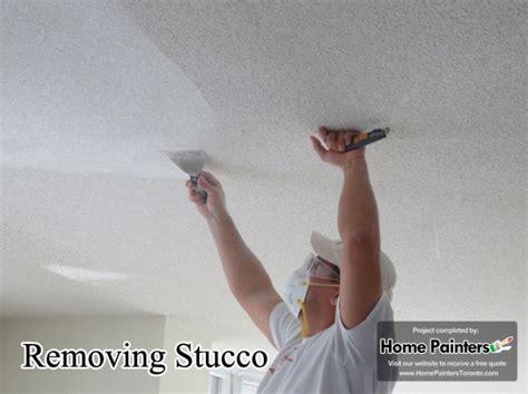 remove popcornstucco  flatten  ceilings