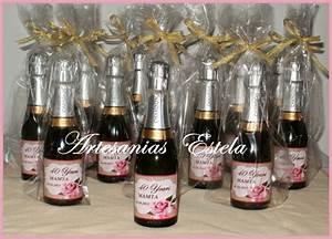 Souvenirs Cumpleaños 50 Años Botellitas De Champagne Personalizadas Artesanias Estela
