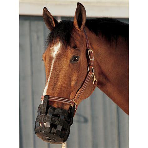 muzzle grazing friend cribbing horse muzzles doversaddlery