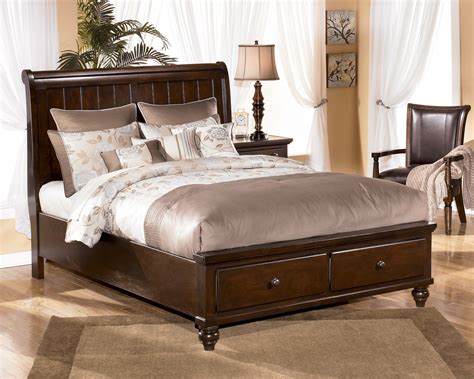ashleys furniture beds furniture gt bedroom furniture gt sleigh bed gt bronze sleigh bed