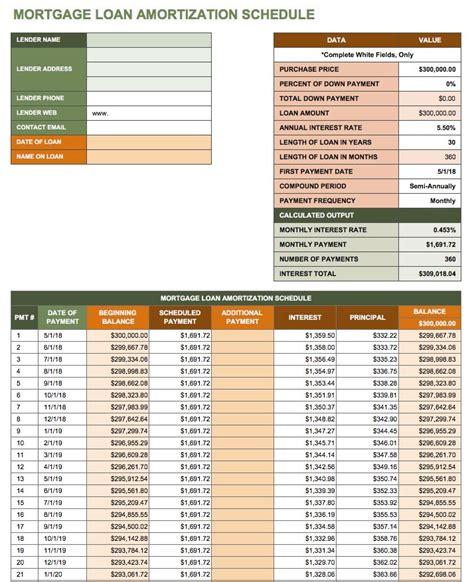 excel amortization templates free excel amortization schedule templates smartsheet