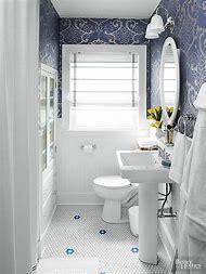 Blue and White Bathroom Floor Tiles