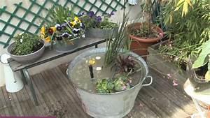 Objet Bambou Faire Soi Meme : d co r cup pour le jardin une bassine en zinc transform e en fontaine au jardin bassine ~ Melissatoandfro.com Idées de Décoration