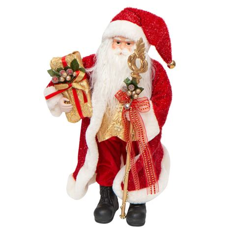 Standing Classic Santa Figurine - Table Decor - Christmas ...