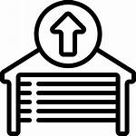 Garage Open Door Outline Icon Automation Bms