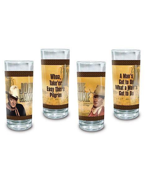 drinking glass wayne john pilgrim glasses sets whiskey bottle sheplers
