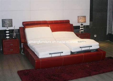 china leather sofa bed with electric adjustable bed p