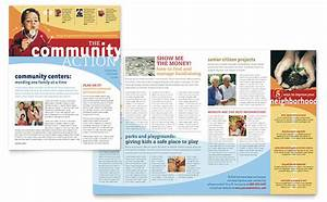 community non profit newsletter template design With printed newsletter templates