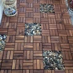 runnen floor decking outdoor brown stained outdoor