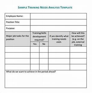 training needs analysis template npo pinterest template With instructional design analysis template