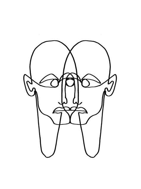 """Face Two Face"" Linework by Julia Hariri #linework#artwork"