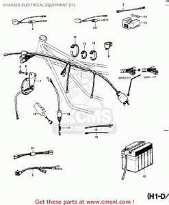 Kawasaki Kh500a8 1976 Canada Chassis Electrical Equipment